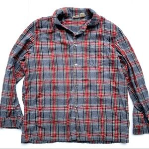 Vintage LL Bean Men's Plaid Flannel Shirt